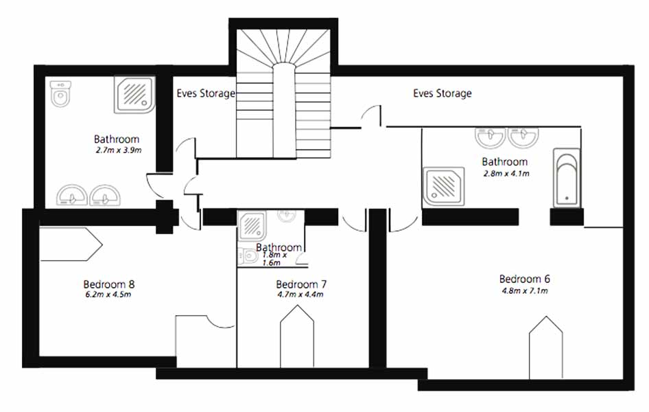 Villa Mystiqe Cannes second floor plan 1