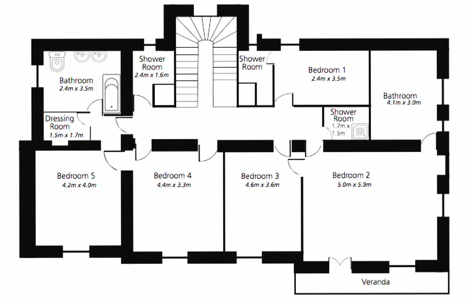 Cannes Villa Mystique first floor plan 1