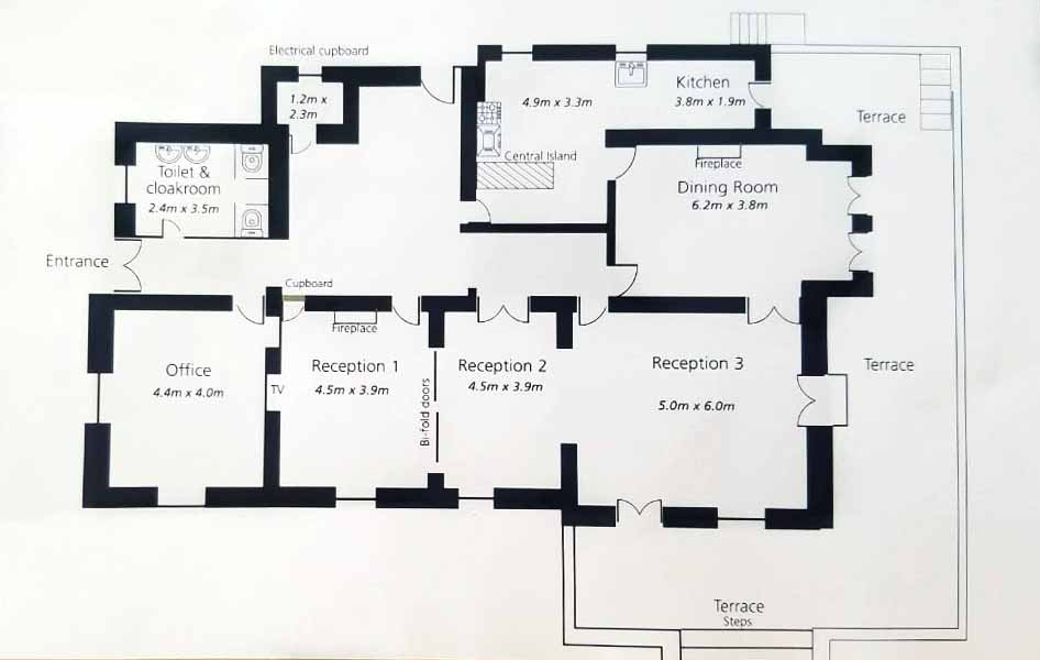 Cannes Villa Mystique ground floor plan 1
